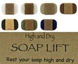 SoapLift van bioplastic (maiszetmeel), langer plezier van jouw stuk zeep of shampoo bar._