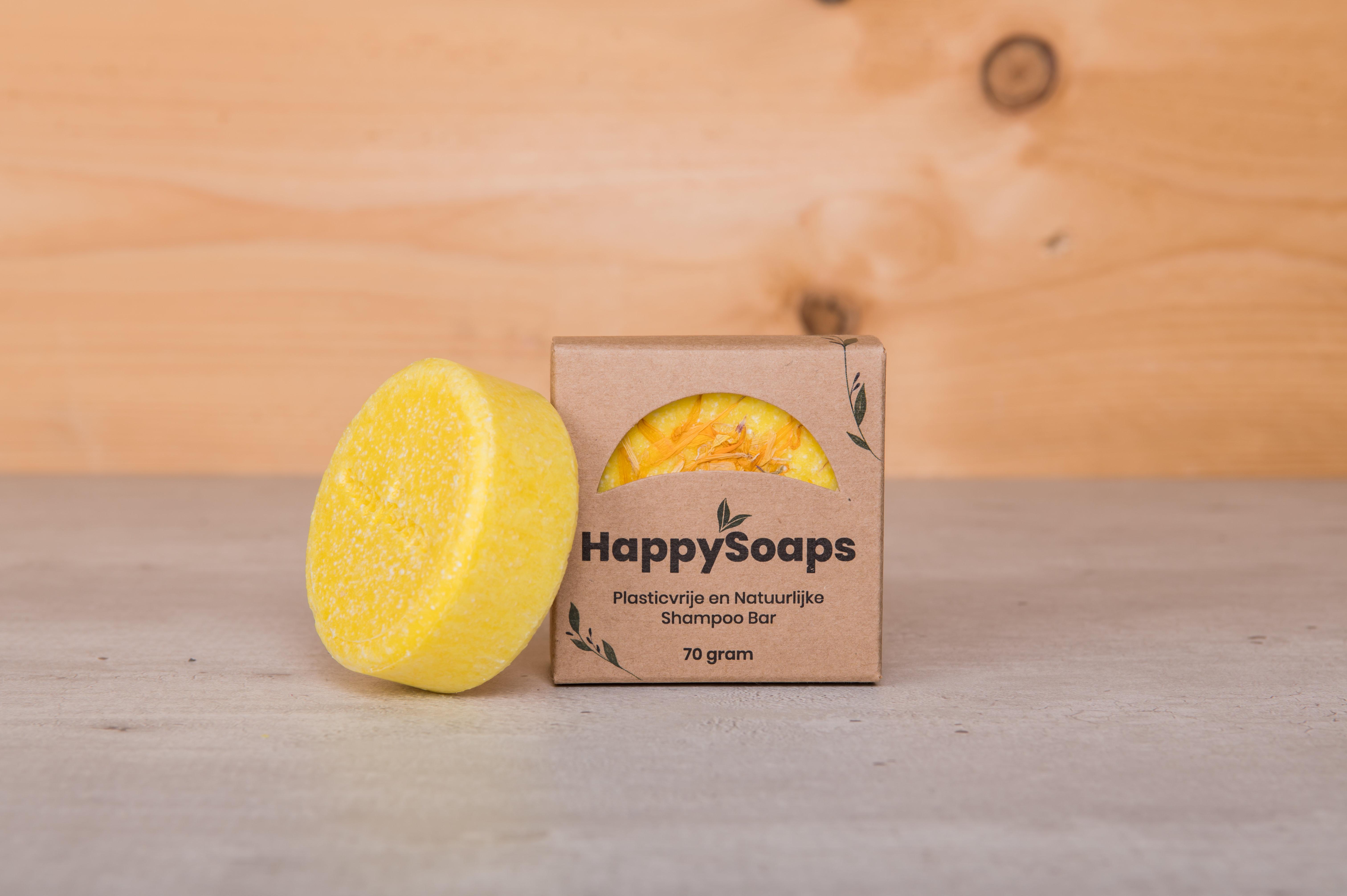 Shampoo bar Chamomile Down & Carry On (HappySoaps, 70 gram) Ook verkrijgbaar in andere geuren.