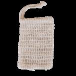Zeepzakje, mix van katoen en linnen. Ideaal voor het opbergen en meenemen van jouw shampoo-of bodybar.