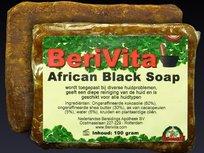 Zwarte zeep, African Black Soap, topkwaliteit, handgemaakt en vrij van kleur en geurstoffen, zeepbar 100 gram